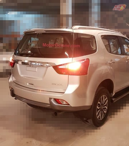 Isuzu MU-X rear end spotted in India undisguised