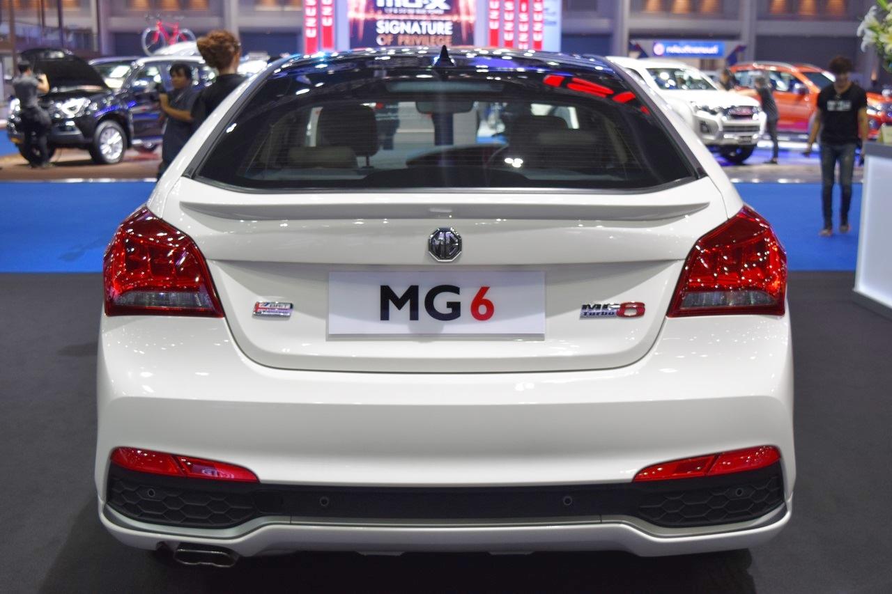 MG6 Fastback rear MG6 Fastback at 2017 Bangkok International Auto Show