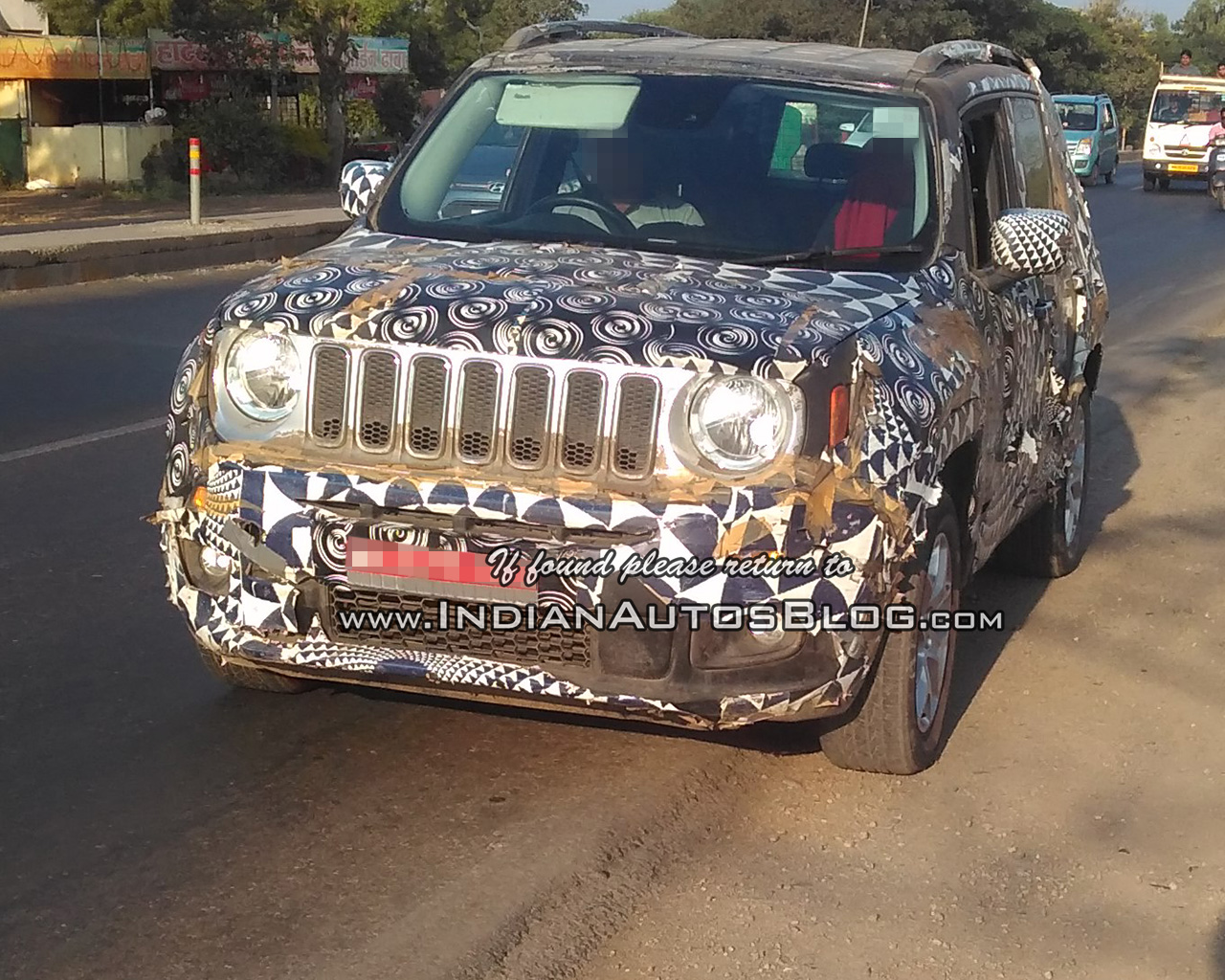 RHD 2019 Jeep Renegade front Indian test vehicle