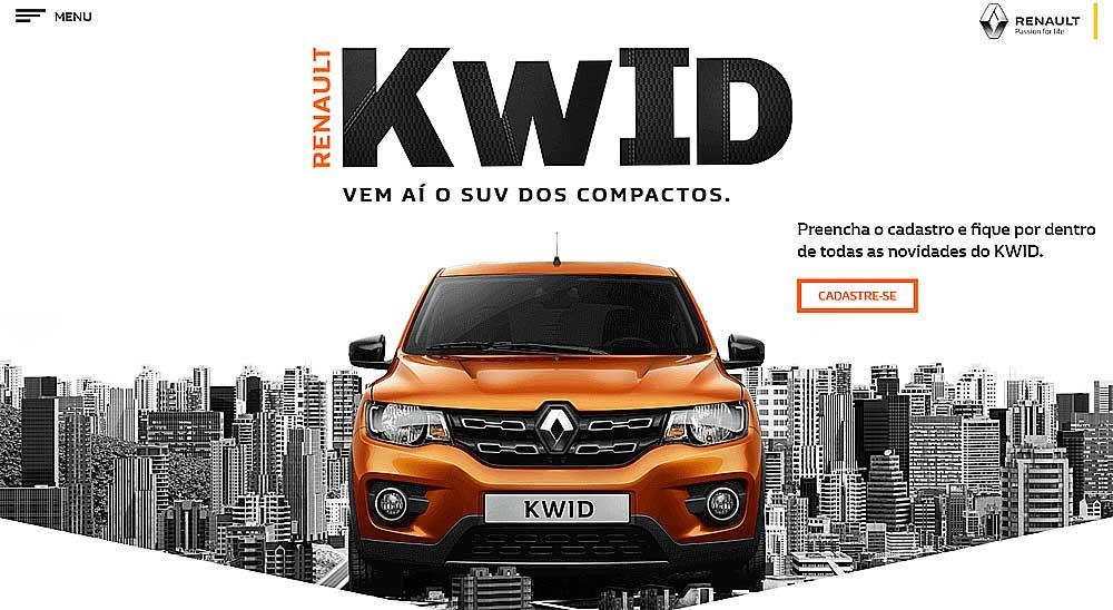 Renault Kwid microsite brazil