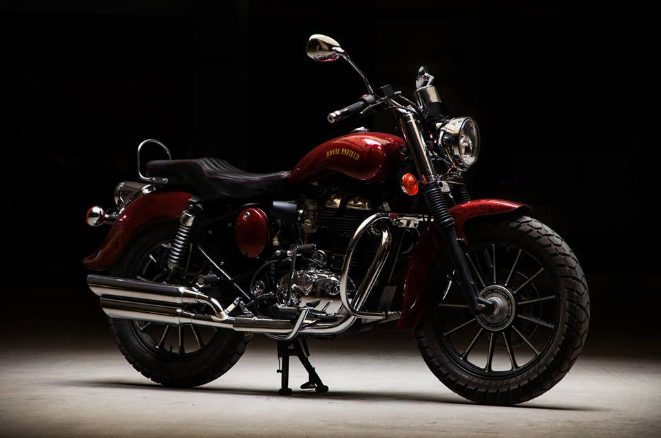 Royal Enfield Electra 350 Jasper by Eimor Customs exhaust system
