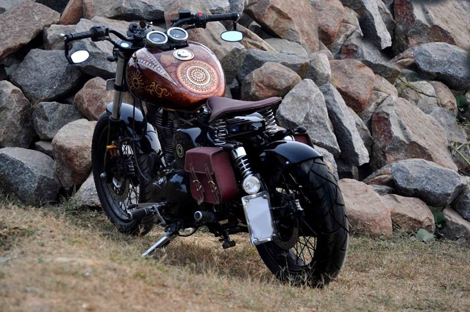Royal Enfield Thunderbird 350 Karma by Puranam Designs rear three quarter left