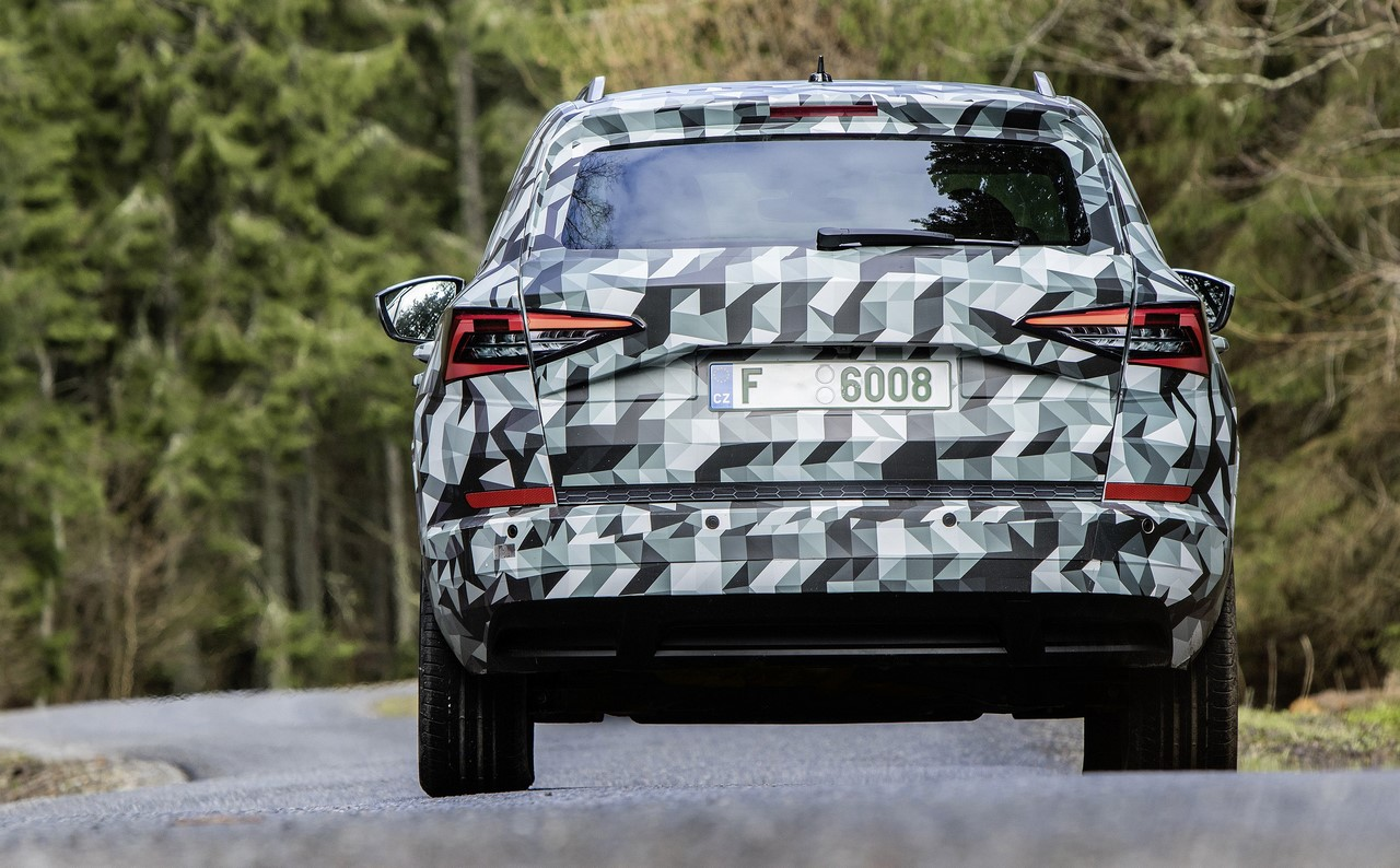 Skoda Karoq rear camouflaged