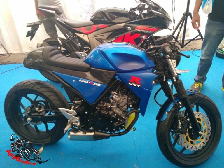 Suzuki GSX-R150 cafe racer side