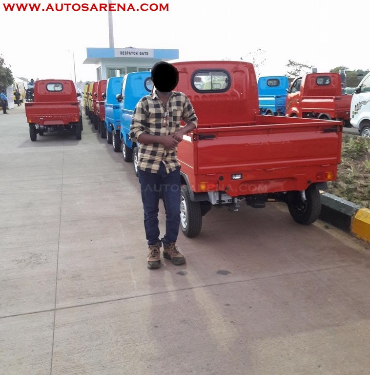 Tata Ace Zip XL BSIV red rear three quarter dealership