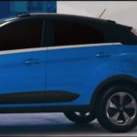 Tata Nexon blue body colour with contrast roof