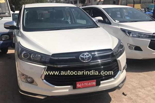 Toyota Innova Crysta Touring Sport front spied at dealership