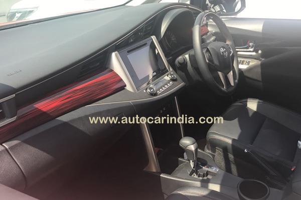 Toyota Innova Crysta Touring Sport interior spied at dealership