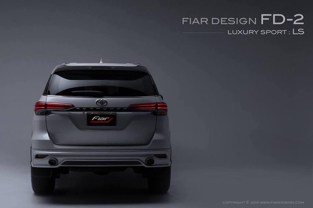 2016 Toyota Fortuner Fiar Design Body kit rear Studio shots