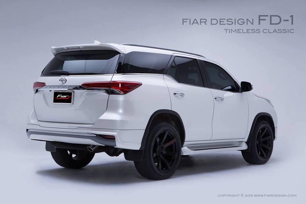 2016 Toyota Fortuner Fiar Design Body kit rear three quarter Studio shots