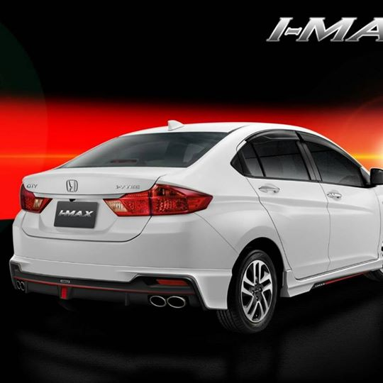 2017 Honda City with IMAX body kit rear three quarters