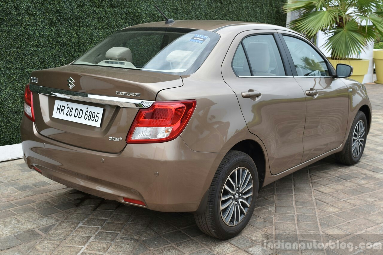 2017 Maruti Dzire rear quarter diesel First Drive Review