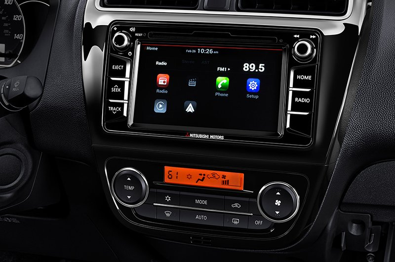 2017 Mitsubishi Mirage infotainment system unveiled