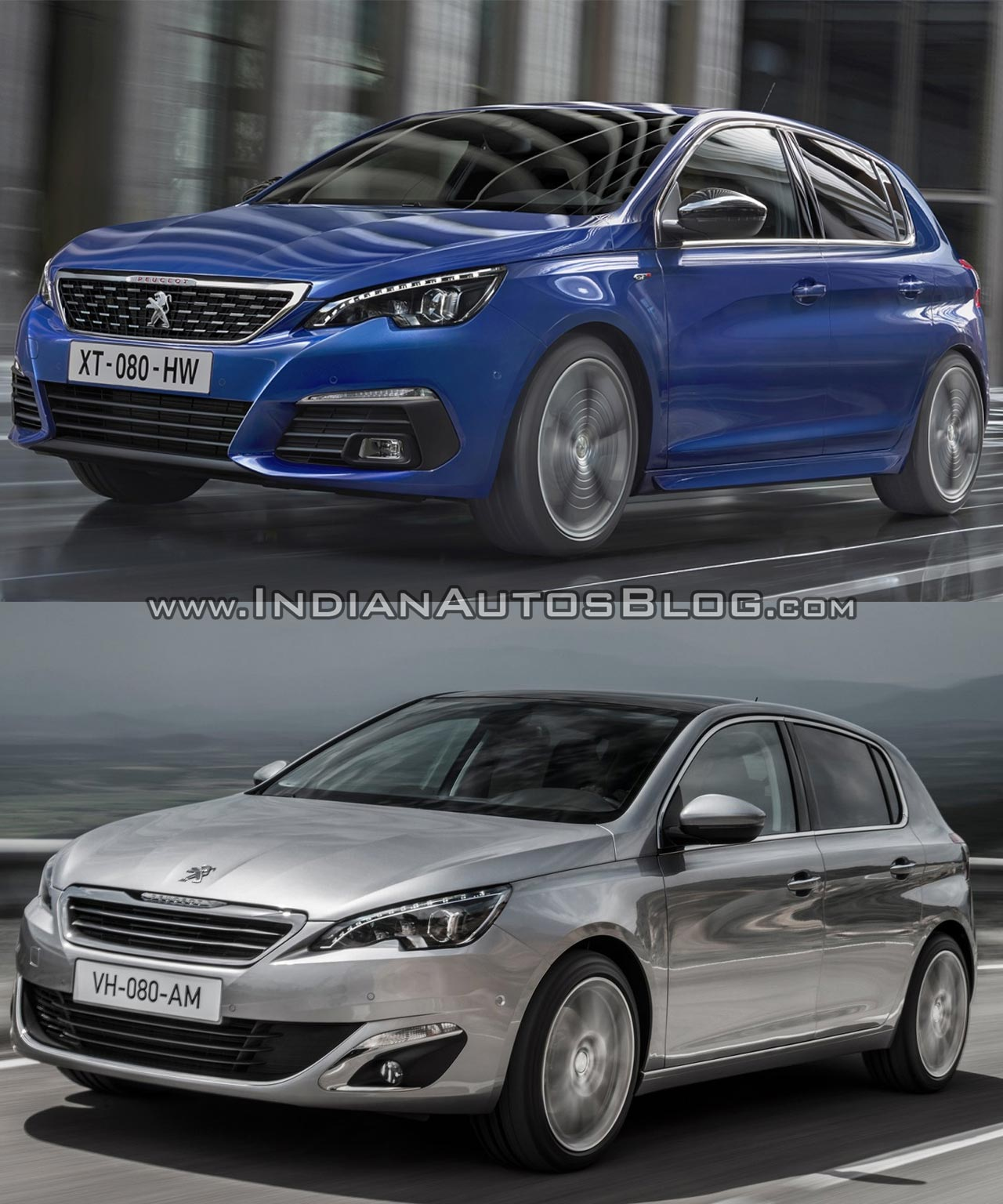 2017 Peugeot 308 vs. 2013 Peugeot 308 front three quarters