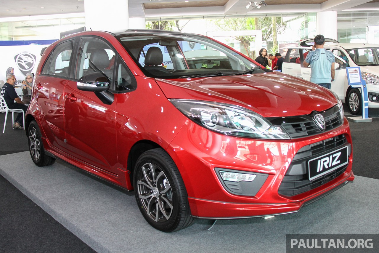 2017 Proton Iriz front three quarters