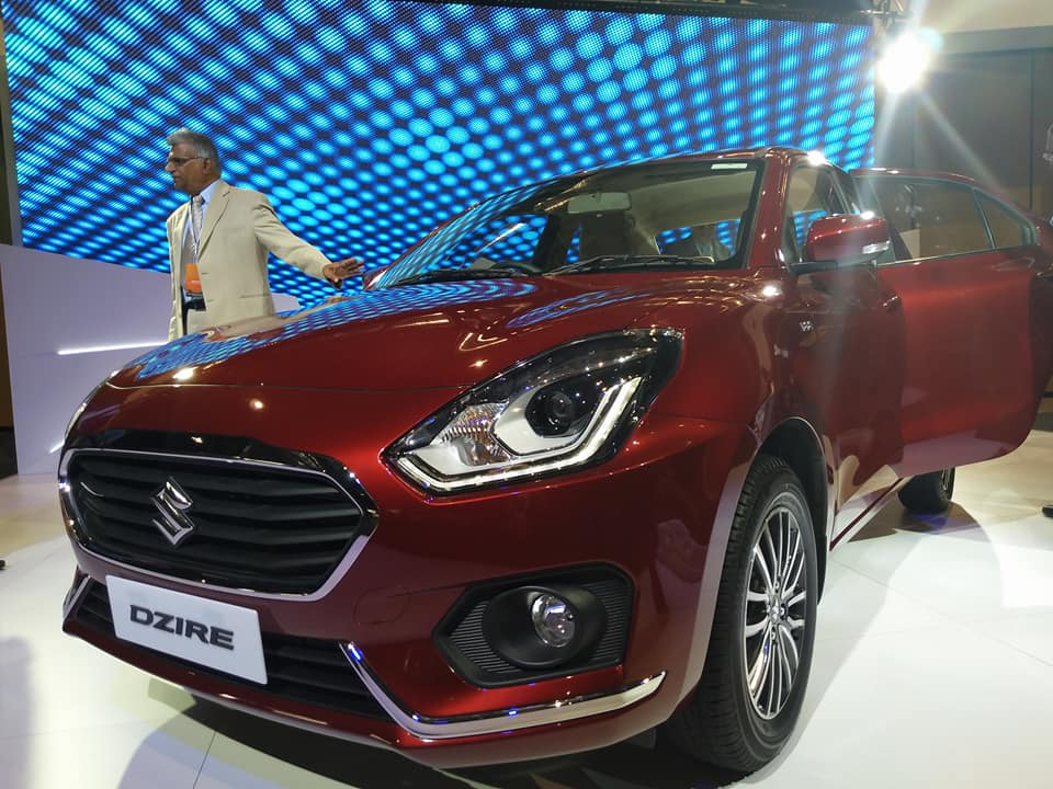 2017 Maruti Dzire Gallant Red