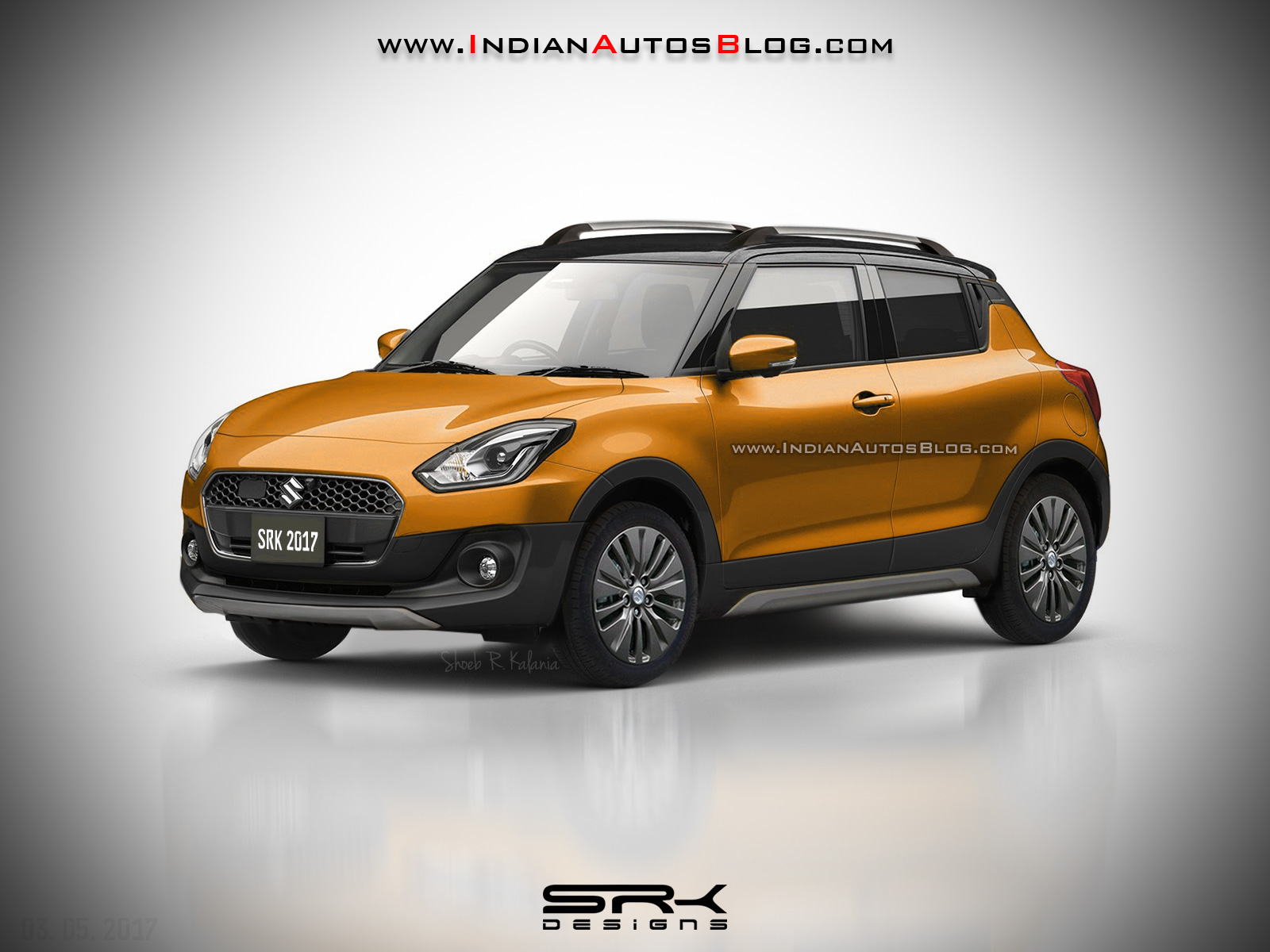 2017 Suzuki Swift Cross (Maruti Swift Cross) front three quarter Rendering