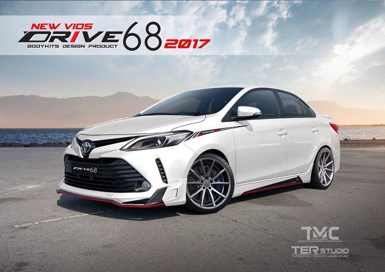 2017 Toyota Vios with Ter Studio body kit front three quarters