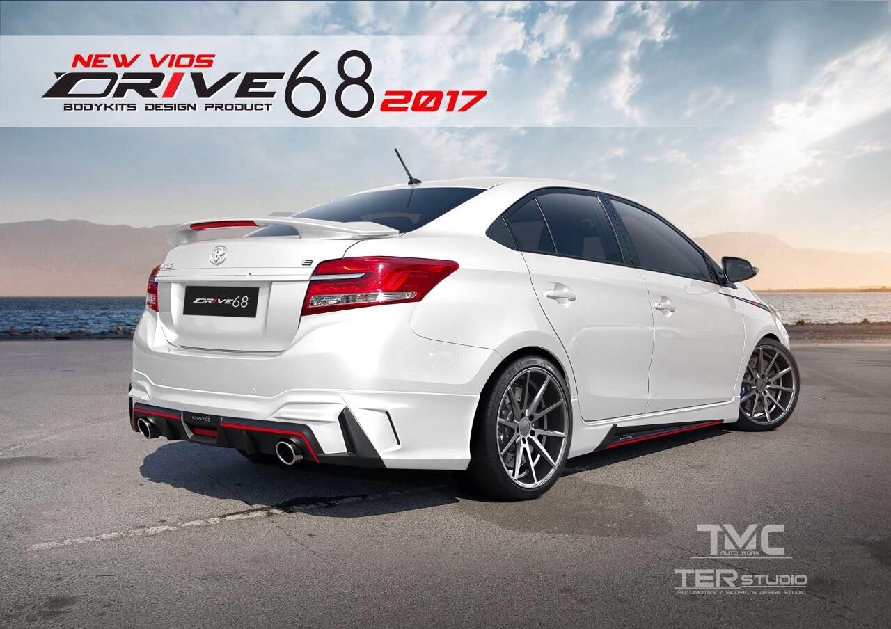 2017 Toyota Vios with Ter Studio body kit rear three quarters