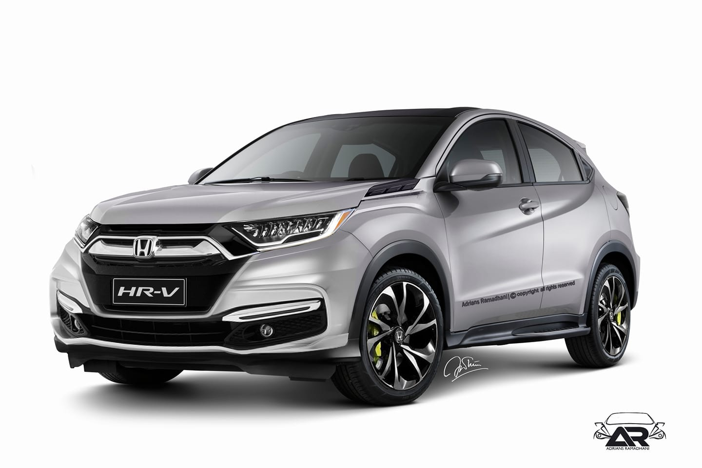 2017 Civic Led Headlights >> 2018 Honda HR-V (facelift) - Rendering
