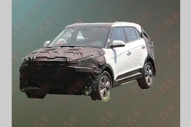 2018 Hyundai ix25 (2018 Hyundai Creta) facelift front three quarters spy shot