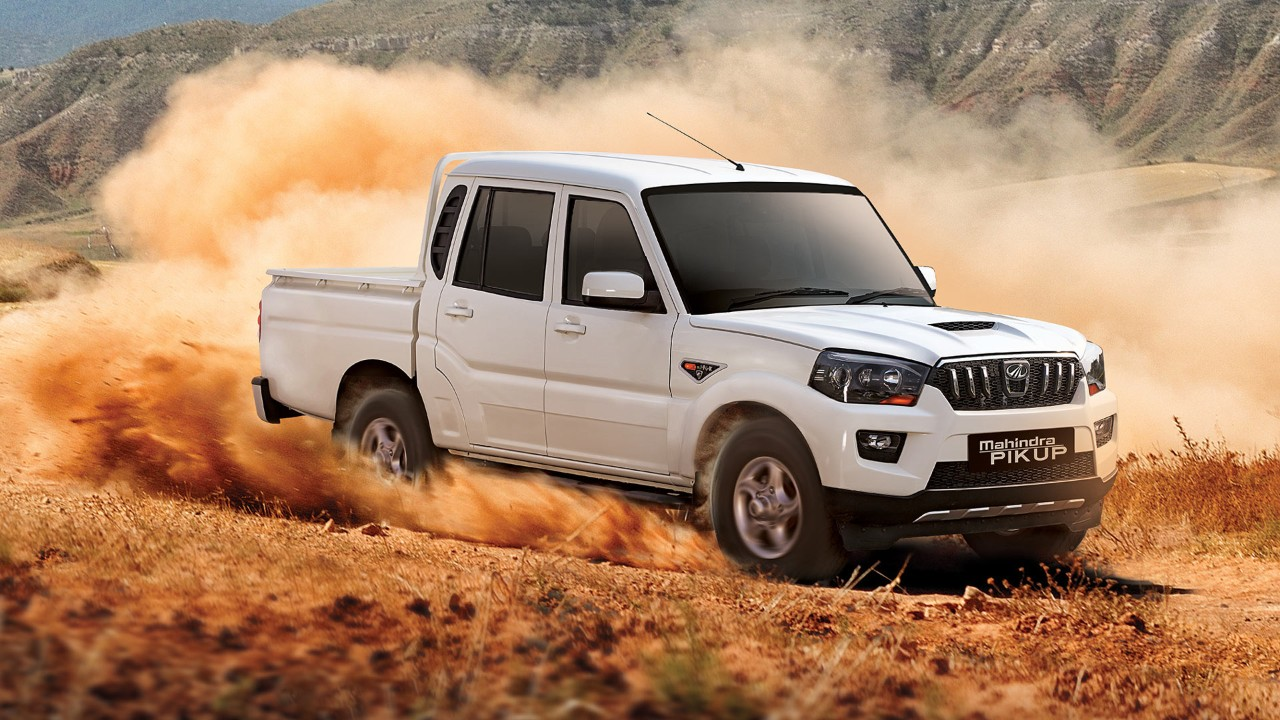 2018 Mahindra Scorpio Pik-Up (2018 Mahindra GOA Pik-Up 2018 Mahindra Scorpio Getaway) front three quarters