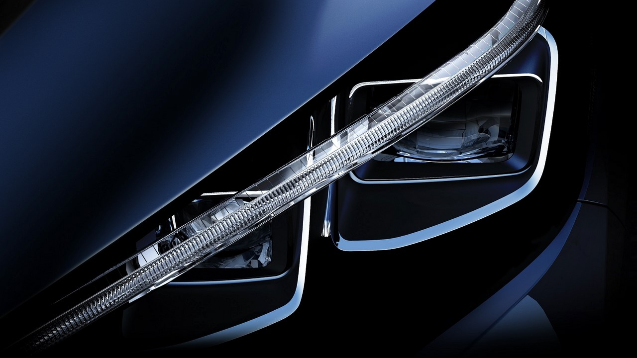 2018 Nissan Leaf headlight teaser