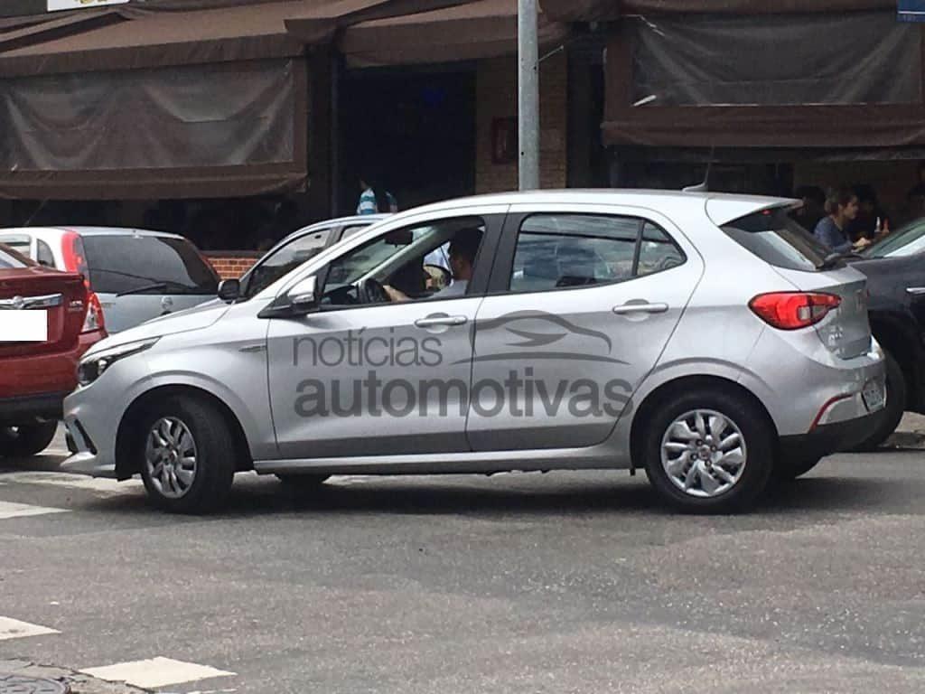 Fiat Argo 1.0 Drive side profile new spy shot