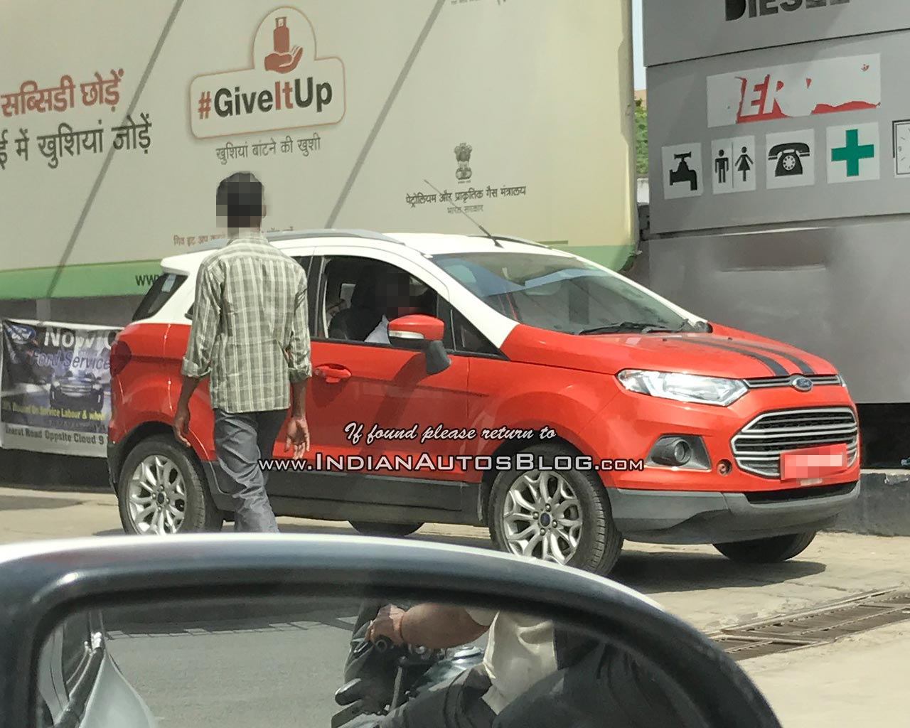 Ford EcoSport dual-tone front three quarters spy shot