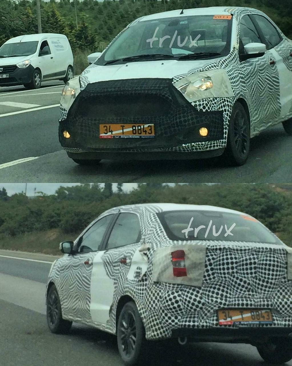 Ford Ka+ Sedan spy shots Turkey