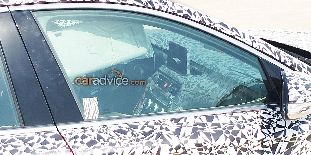 Genesis G70 (BMW 3 Series rival) interior spied testing