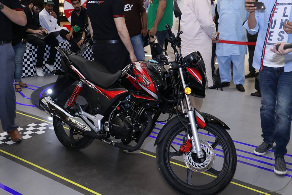 Honda CB150F launch Pakistan front three quarter