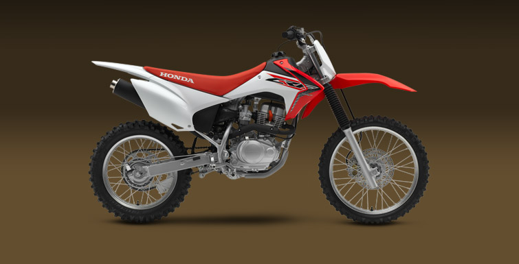 Honda CRF 150F side studio US model