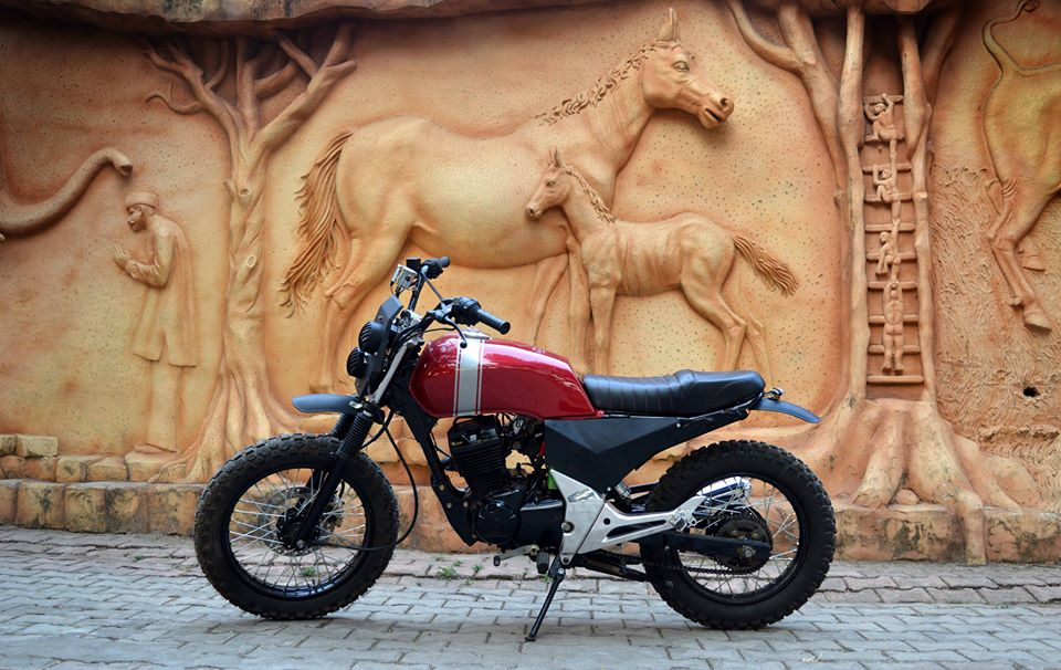 Honda Unicorn 150 Scrambler by Furious Customs side