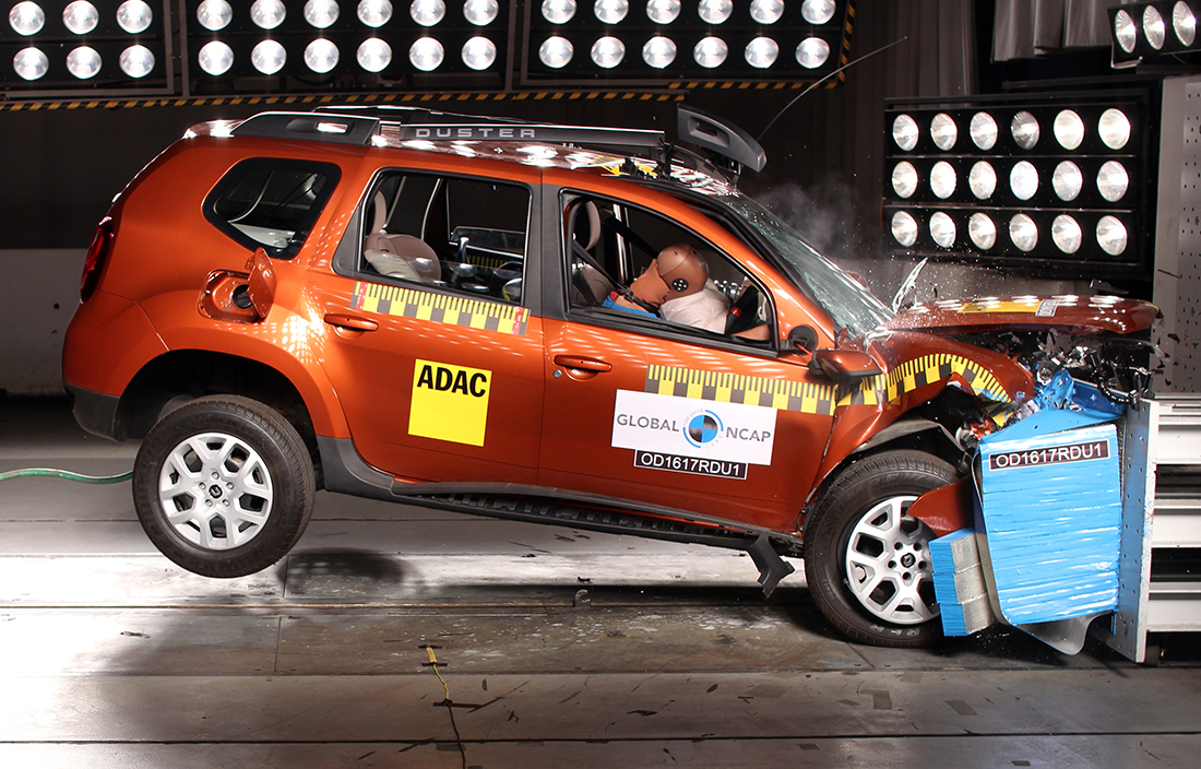 India-made Renault Duster side in Global NCAP Crash Test