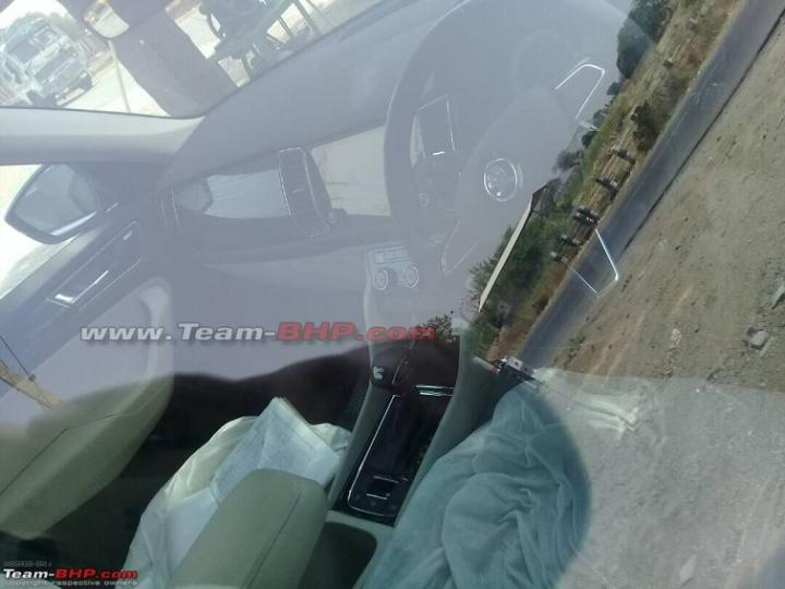 Indian-spec Skoda Kodiaq interior spy shot