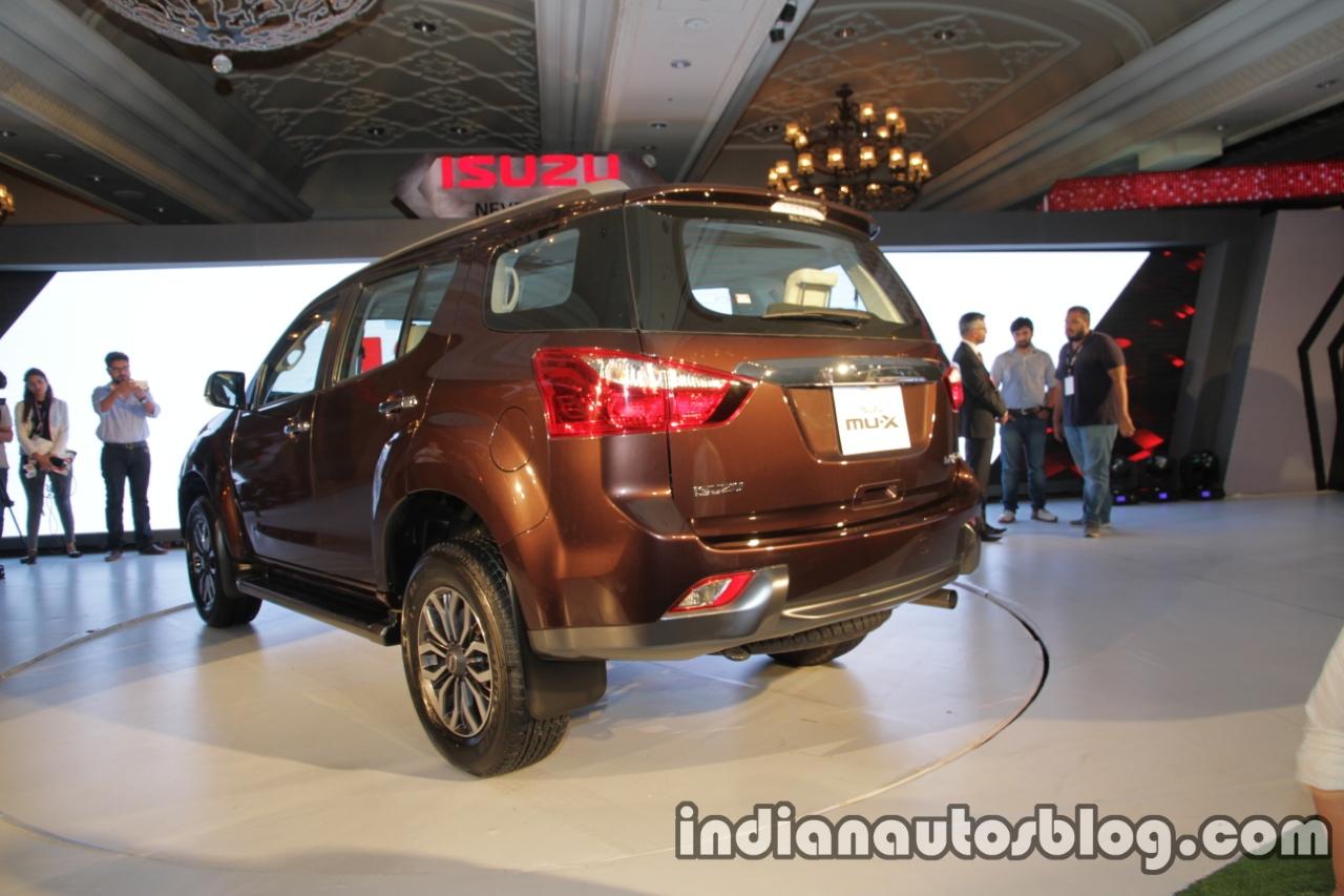 Isuzu MU-X rear quarter launched in India image