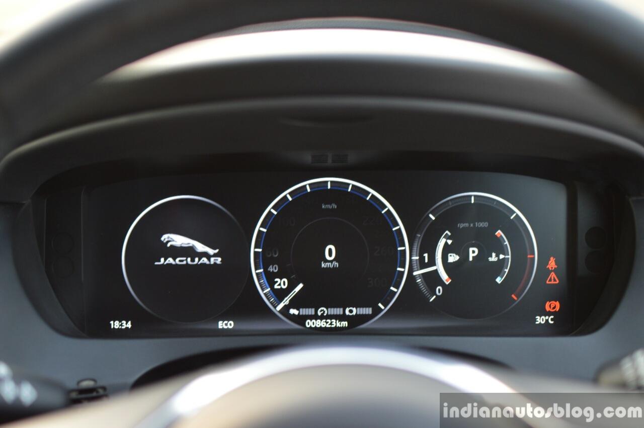 Jaguar F-Pace R-Sport SUV instrument cluster Review