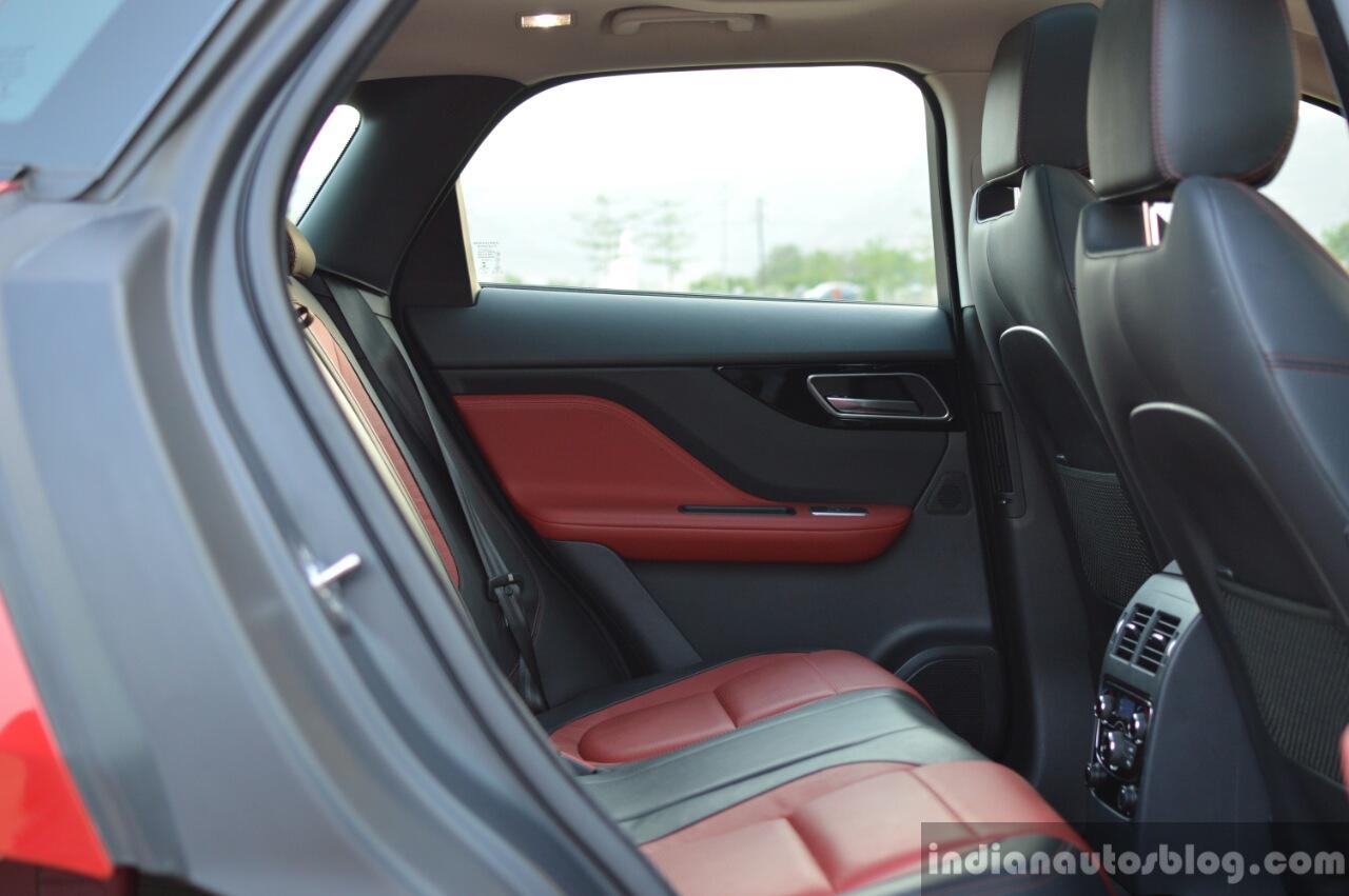 Jaguar F-Pace R-Sport SUV rear cabin Review