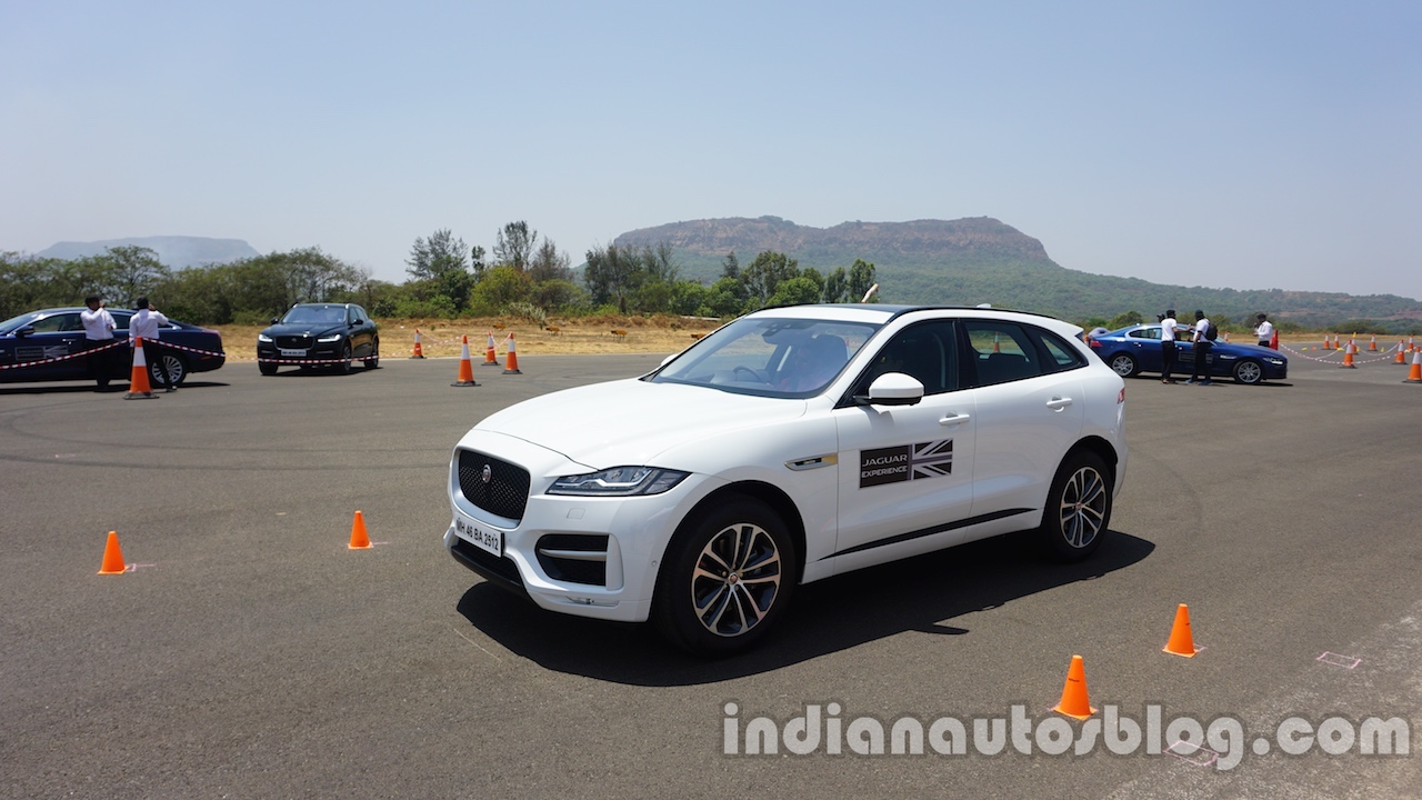 Jaguar F-Pace front three quarters second image