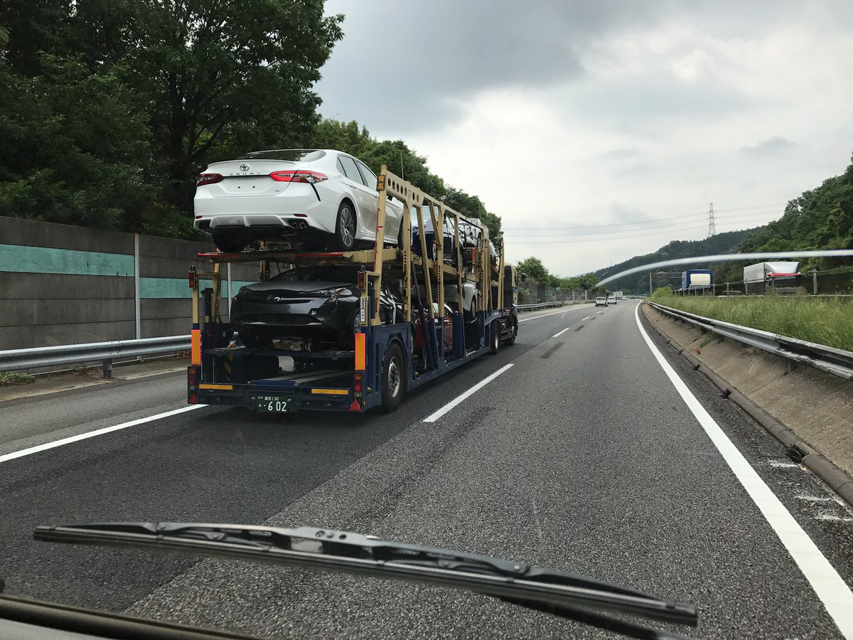 Japan-made 2018 Toyota Camry in transit