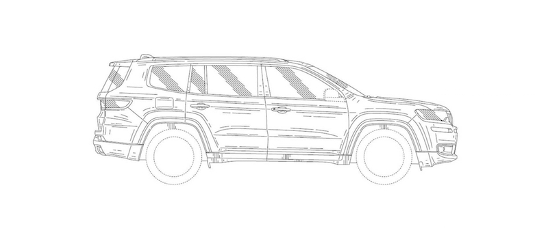 Jeep 7 seat SUV side patent image