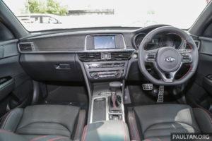 Kia Optima GT dashboard in Malaysia