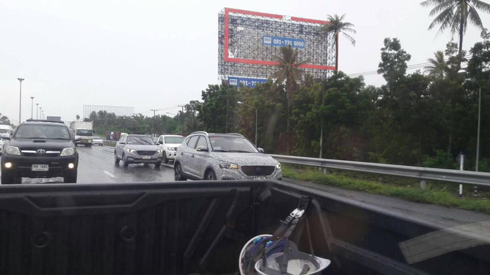 MG ZS front three quarters spy shot Thailand