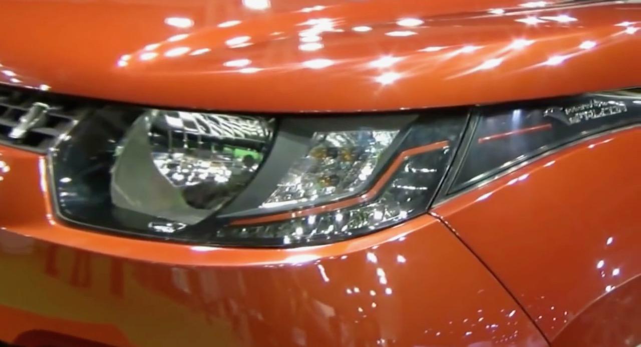 Mahindra KUV100 LHD-spec headlamp showcased at Automobile Barcelona