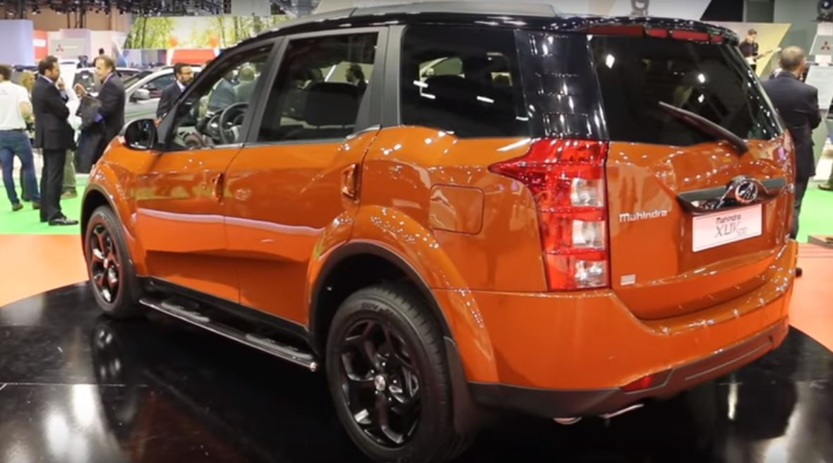 Mahindra XUV500 special edition rear three quarters