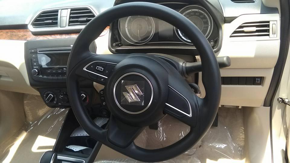 Maruti Dzire 'V' variant interior spied