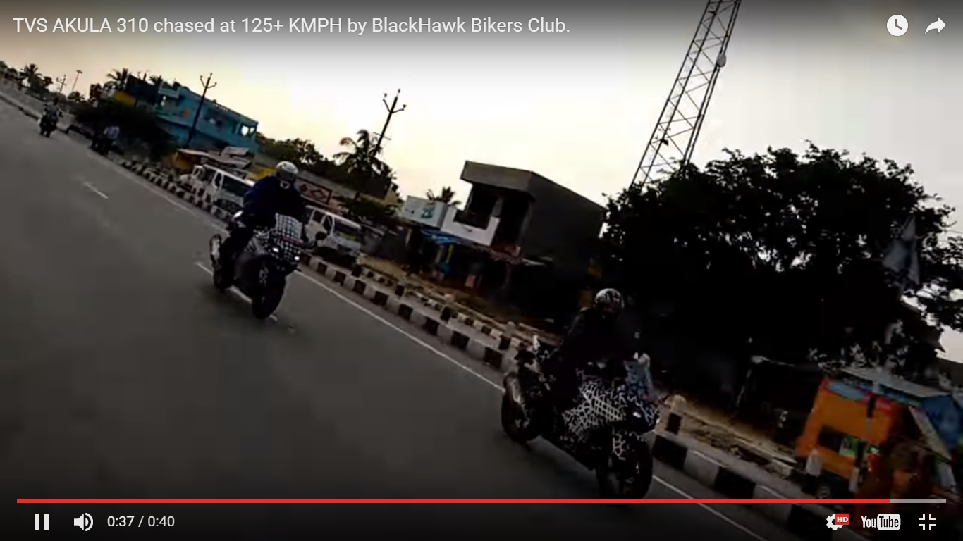 TVS Apache RR 310S camouflaged spy video two bikes