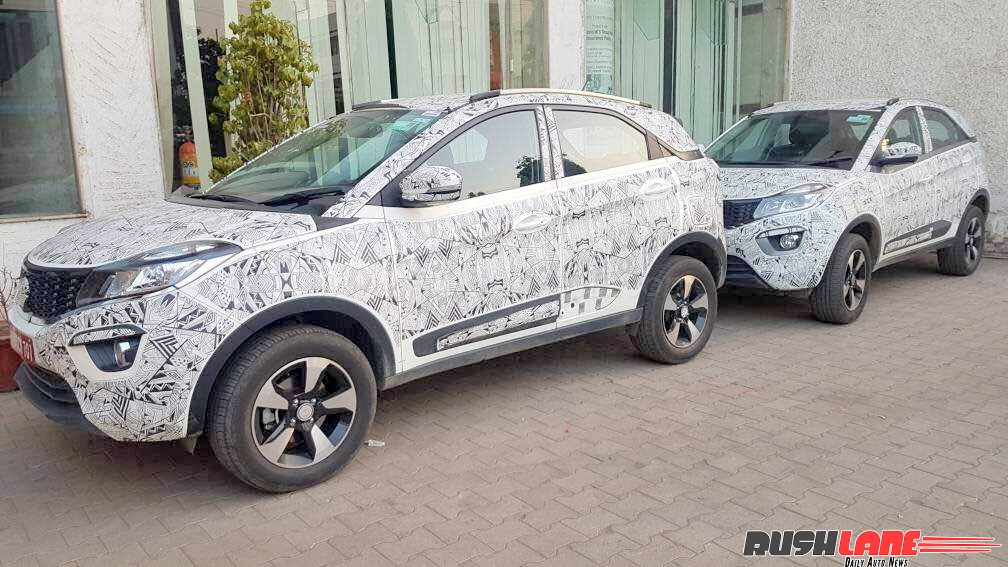 Tata Nexon side spied with camouflage