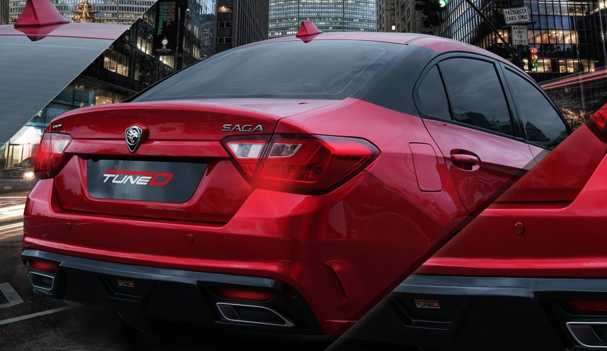 TuneD bodykit for Proton Saga black pillar
